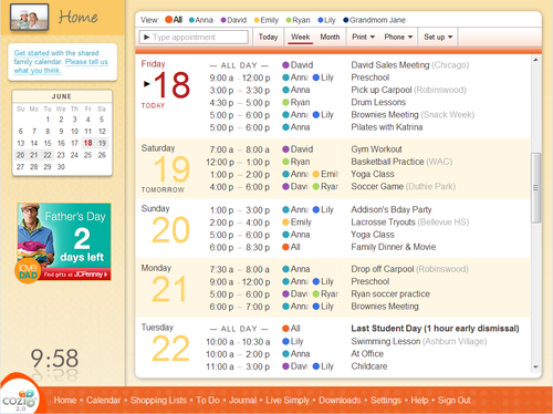 Calendar with Toolbar