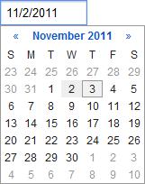 Google Calendar Date Picker