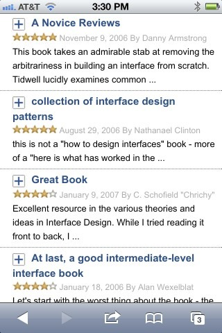 Amazon Mobile Reviews (Collapsed)